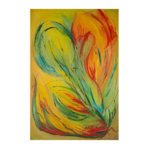 Den blomstrende peberfrugt maleri af Christa Bundgaard