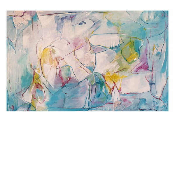 Den boblende frihed maleri Christa Bundgaard