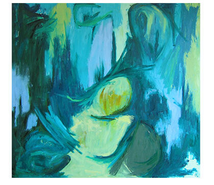 Den omsorgsfuld kvinde.Kunstmaleri