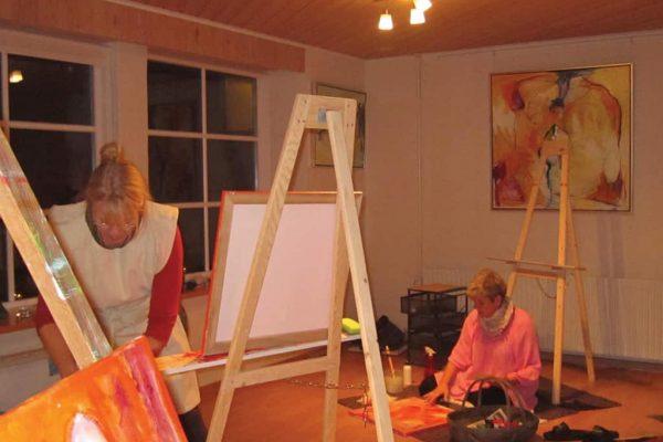Malerworkshop i klinik Stjerneenergi damer maler